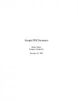 Un primo esempio di PDF
